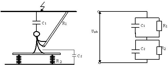 [问答题,简答题] 识绘题:画出中间电位作业的示意图和等值电路图,图中