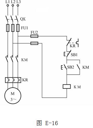 [问答题,简答题] 绘图题:画出三相电动机具有过载保护的自锁控制电路