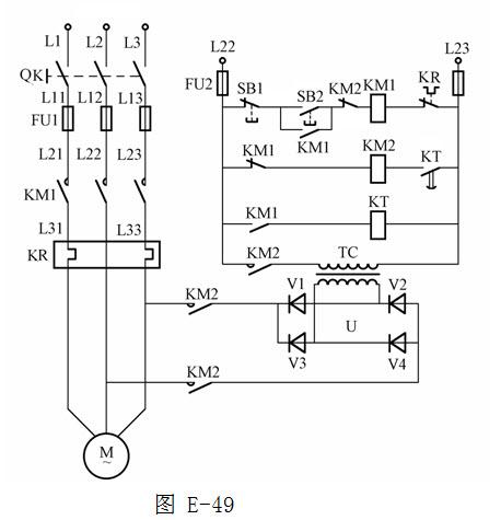 绘图题:画出采用时间继电器控制将y/Δ减压启动器控制电路
