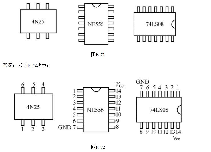 [问答题] 绘图题:在下面的电路板上,如图e-71所示,有ne556,4n25,74ls