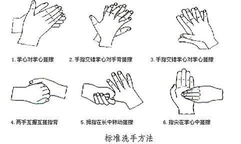 简述六步洗手法.