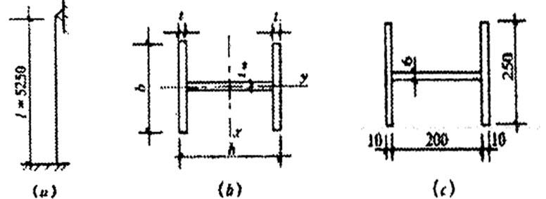 钢结构设计原理题库   图1所示一上端铰接,下端固定的轴心受压柱,承受